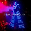 Led Luminous Stilt Robot Suit With LED Helmet Illuminated LED Clothing Growing Light Performance Stage Kryoman