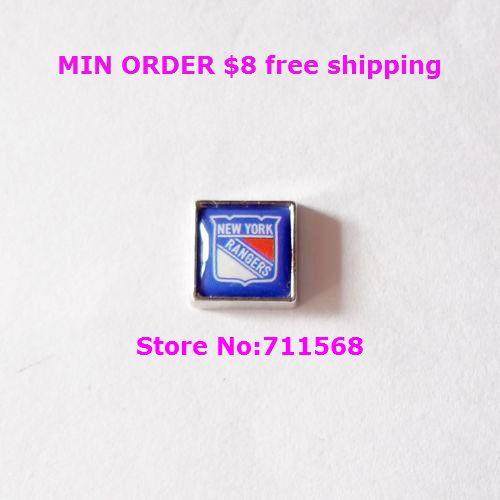 New York Rangers Floating Charm National Hockey League NY Team Logo Locket Charm For Glass Floating Locket Accessories(China (Mainland))