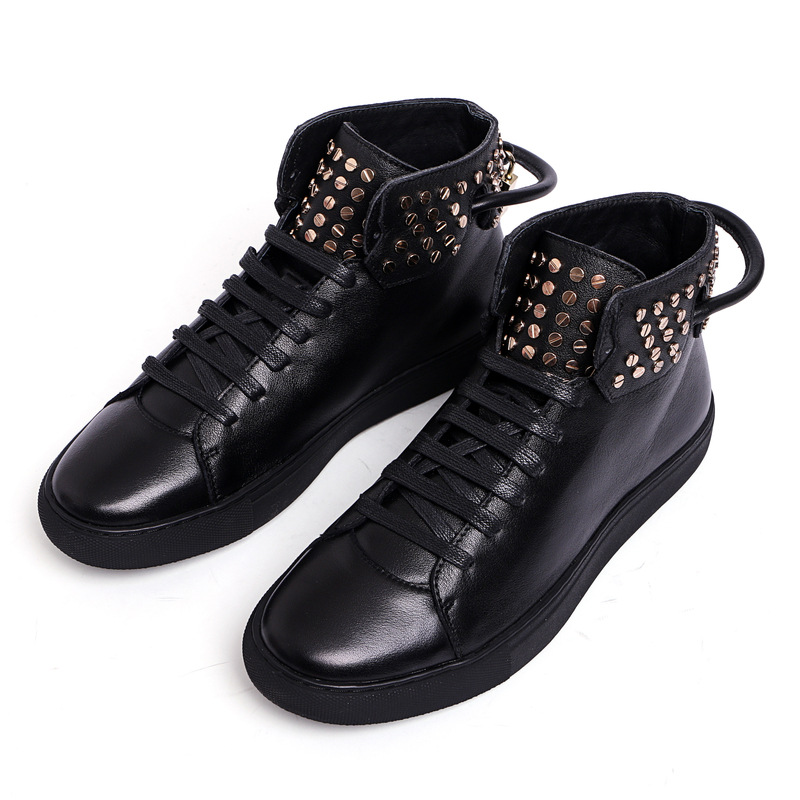 2016 italian luxury designer fashion mens ankle boots genuine leather black men shoes for party wedding business office work 276(China (Mainland))