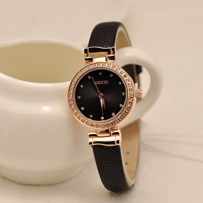 2016 New Arrival Brand KEZZI Sun Pattern Rhinestone Ladies wristwatch Ladie Temperament Wilds Watches Quartz Watches Wholesale