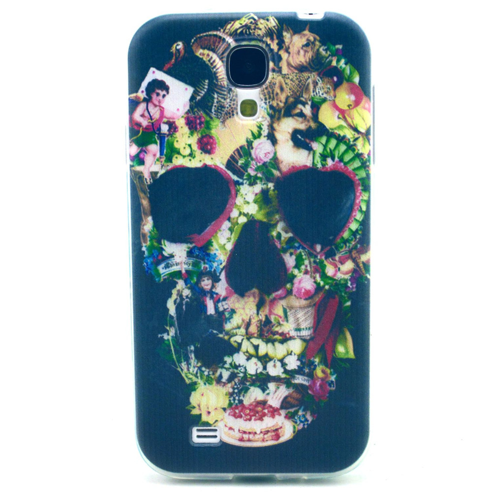 For Samsung Galaxy S4 Case, Super Cool Skull Head Pattern Soft TPU Scratch-Proof 3D Phone Cover For Samsung S4 case(China (Mainland))