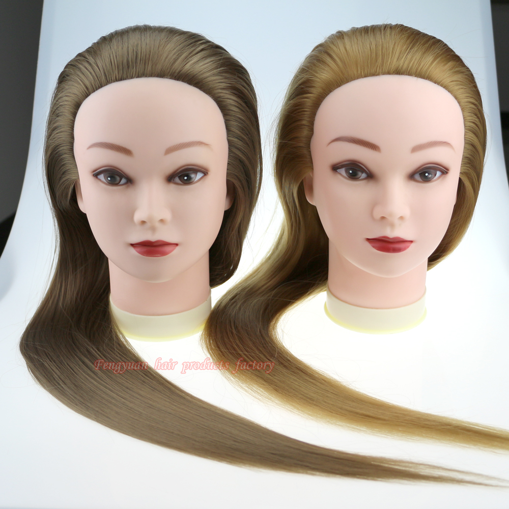 26inch two colors Hairdressing doll heads hair styling