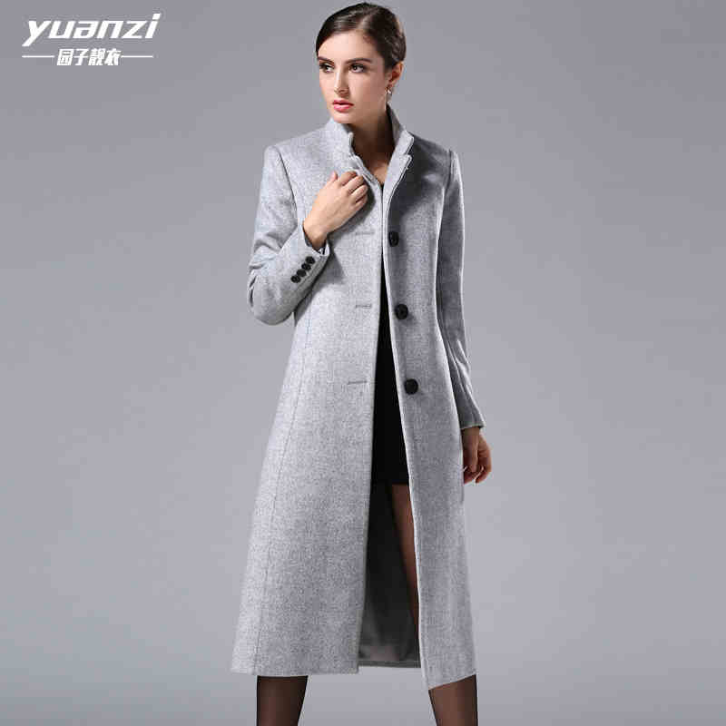 2016 New hot spring autumn woman Coat Parkas Cashmere jacket coat Outerwear Luxury long plus size 3XXXL Slim Collar(China (Mainland))