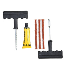 1 Set Auto Car Tire Repair Kit Car Bike Auto Tubeless Tire Tyre Puncture Plug Repair Tool Kit Tool Car Accessories DXY(China (Mainland))
