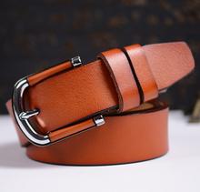 Epacket frete grátis marca genuína mulheres de couro de luxo 100% cinto de couro de alta qualidade para mulheres