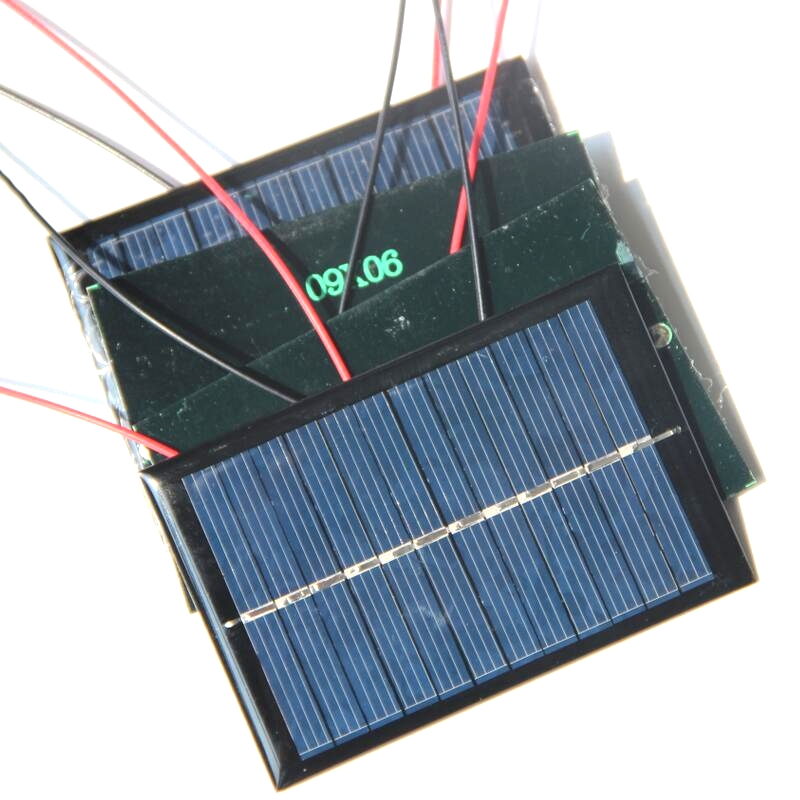 BIG SALE 300PCS 0.6W 6V Epoxy Solar Panel Mini Solar Cell+Cable Solar Module DIY Small Solar System/Toys Education Kits 90*60MM(China (Mainland))