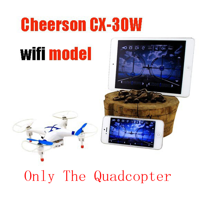 RC Quadcopter Cheerson CX-30W 2.4GHz 4CH 6-Axis Gyro WiFi Real Time Video FPV drone with Transmitter 0.3MP HD Camera Low ship