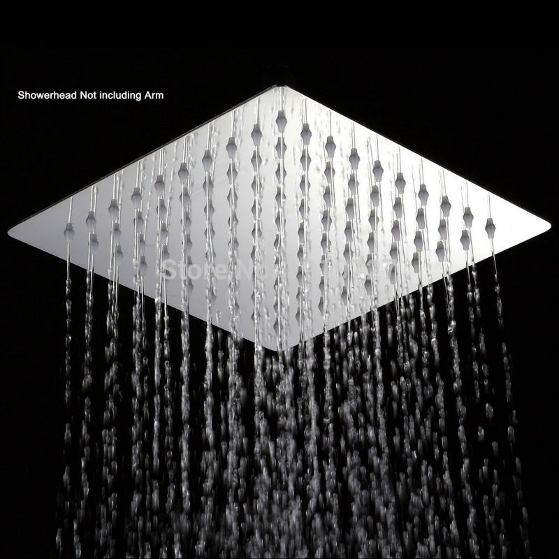 Flow Restrictor Air Booster 25% Water Save Polished Chrome Stainless Steel Square High Pressure 8 Inch Rain Shower Head(China (Mainland))