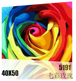 NEW DIY Coloring by Numbers Digital Oil Painting With frame Wall Art Canvas Pattern Home Decor Fantastic Rose 519140*50cm