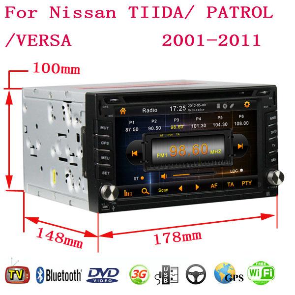 Android 4.4.4 Fit Nissan TIIDA PATROL VERSA 2004 - 2007 2008 2009 2010 Car DVD Player GPS TV 3G Radio WIFI Bluetooth(China (Mainland))