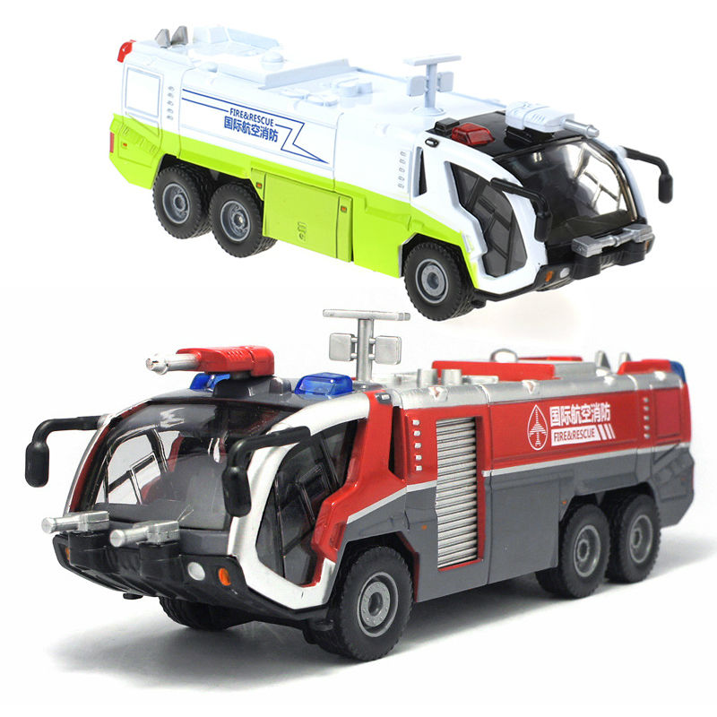 Alloy Engineering Vehicle model children toy car 1:50 fire rescue airfield water cannon tank truck kid toys(China (Mainland))