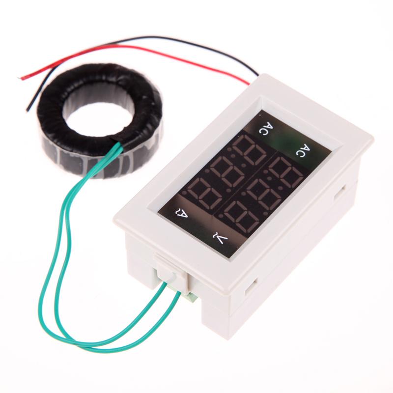 Гаджет  Free Shipping AC Digital Ammeter Voltmeter LCD Panel Amp Volt Meter 100A 300V White Voltmeter Ammeter None Инструменты
