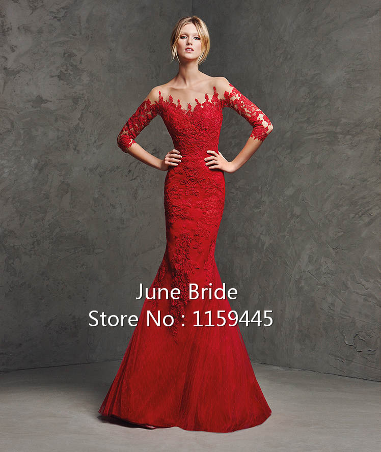 Wedding Dresses With Red Lace 86