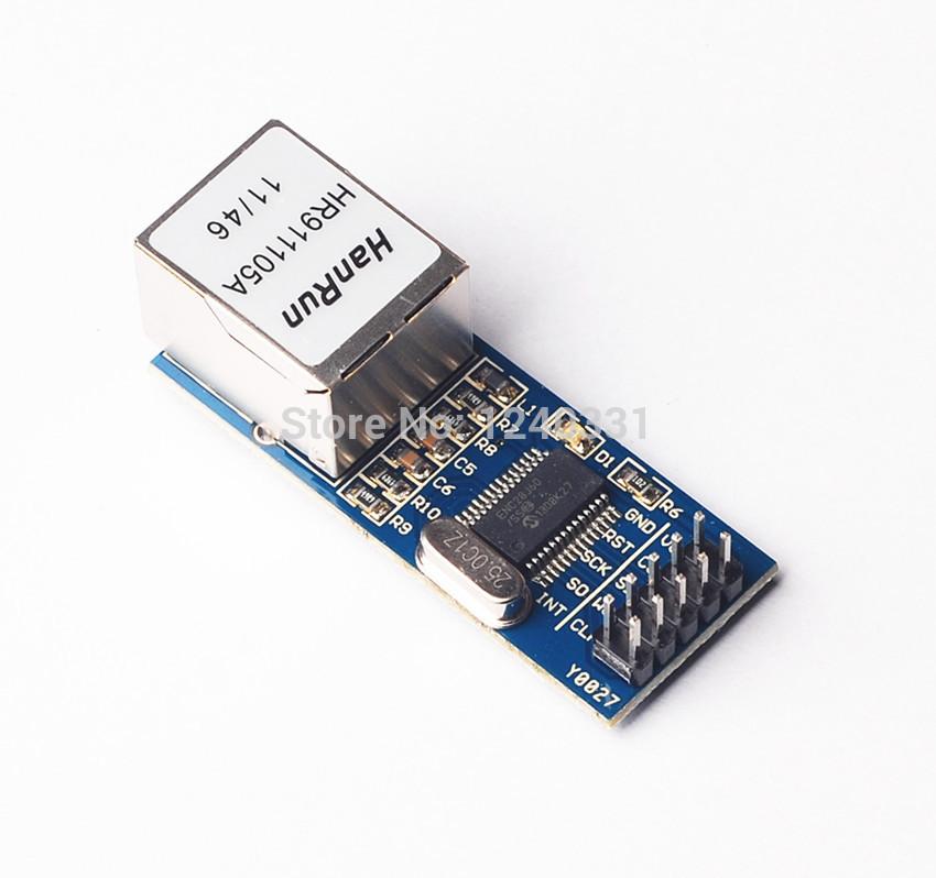 10pcs ENC28J60 SPI interface network module Ethernet module (mini version)(China (Mainland))