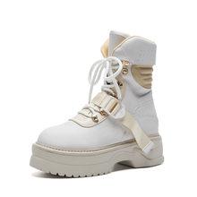 FEDONAS marque femmes bottines bout rond espadrilles décontractées automne hiver pull à capuche qualité chaussures femme basique moto bottes(China)