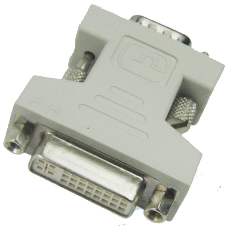 2016New Arrival Good Quality 15 Pin VGA Male To DVI 24+5 Pin Female Converter Adapter Plug 2016 New(China (Mainland))