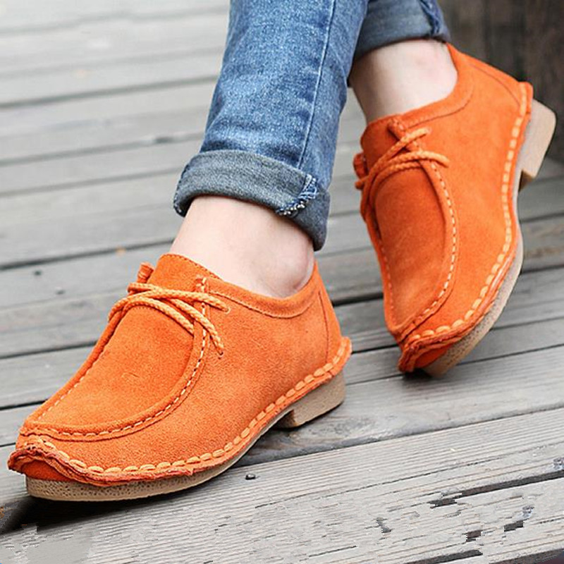 2016 autumn woman brand flat shoes genuine leather handmake woman's shoes snail solid color flat heel casual female shoes(China (Mainland))