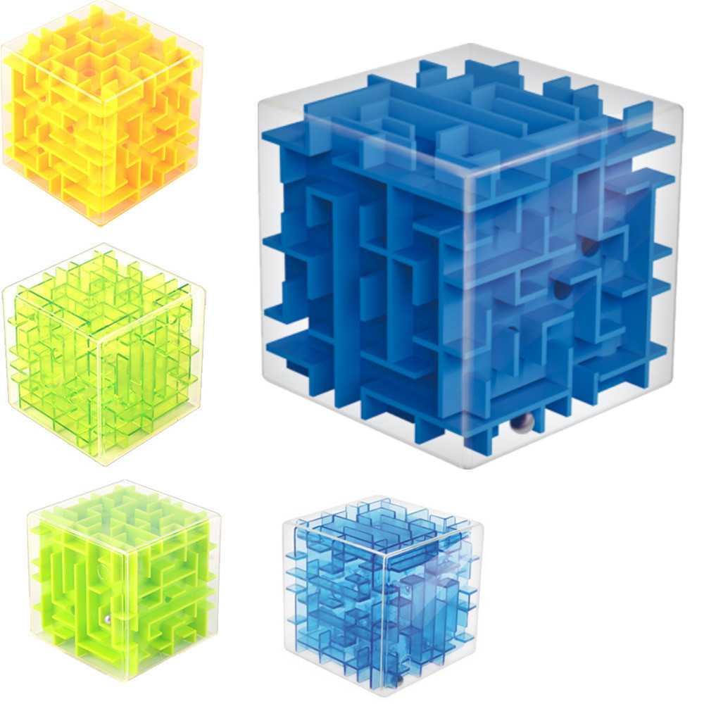 Free Shipping New 3d Maze Magic Cube Toys For Children And Adult 3d Labyrinth Rolling Ball Baby Educational Toys(China (Mainland))