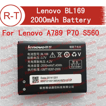Lenovo A789 battery Original 2000mAh Battery BL169 Mobile Phone Battery for Lenovo A789 P70 S560 in stock+ free shipping(China (Mainland))