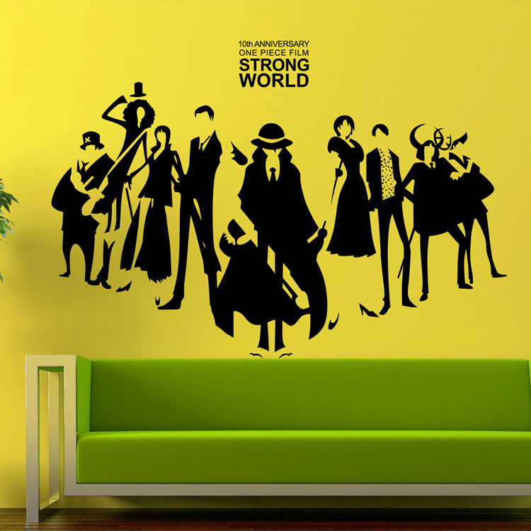 Piece bedroom wall stickers cartoon character personalized wall stickers affixed bar bedside sofa background(China (Mainland))