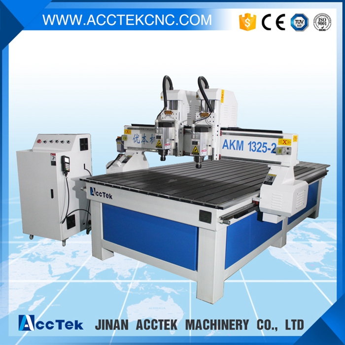 3 axis woodworking door design making cheaper AKM1325 woodworking cnc router table vacuum(China (Mainland))