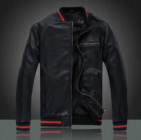 Fashion New Casual Menu0026#39;s Leather Jacket Brand Leather Jacket Best Quality Silm Classic-in Faux ...