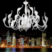 Art Deco European Candle Crystal LED Swan Chandeliers Ceiling Bedroom Living Room Modern Decoration G4 24 Lighting Free Shipping(China (Mainland))