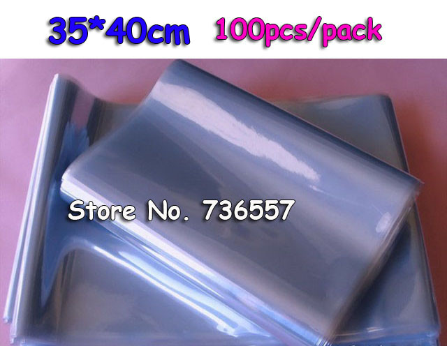 35*40cm Soft Transparent Blow Molding PVC Heat Shrinkable Bags Shrink Film Wrap Cosmetic Packaging Wrap Materials Plastic Bag(China (Mainland))