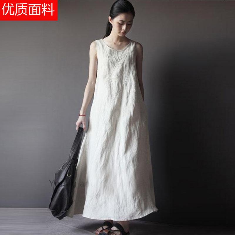 2015 summer dress dress original cotton silk art sleeveless vest dress boutique clothing wholesaleОдежда и ак�е��уары<br><br><br>Aliexpress