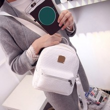 2016 new college wind schoolbag washed leather backpack woman Korean tidal fashion leisure travel bag weave Boutique backpacks(China (Mainland))