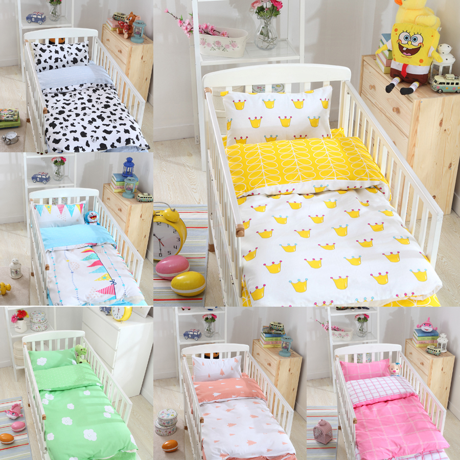 Hot Sale Ins Crib Baby Bedding Set Bed Linen 3pcs Include Duvet Cover Set Bed Sheet Pillowcase 7 Style Design Free Shipping(China (Mainland))