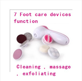 2014new 7 functions pedicure feet care detox foot massage exfoliating electric pedicure 5pcs/lot Wholesale Free Shipping<br><br>Aliexpress