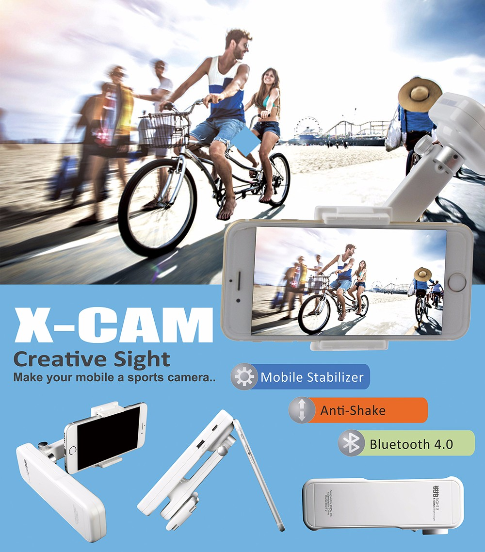 - HTB1W3 9KXXXXXb XpXXq6xXFXXXY - 2016 Upslon X-Cam Self Selfie Sticks Handheld Gimbal 2-axis Stabilizer Brushless Bluetooth Control For iPhone Samsung Smartphone