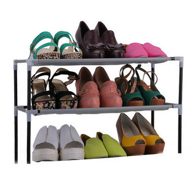 New Simple combination of 3-layer Plastic Shoes Rack Organizer Stand Shelf Holder Unit Black Light(China (Mainland))