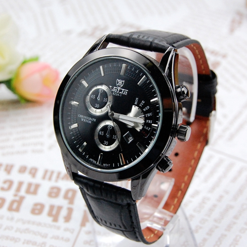 New Arrival Fashion Men Leather Strap Watches Brand Famous Military Sports Quartz valia Watch Male Clock Freeship<br><br>Aliexpress