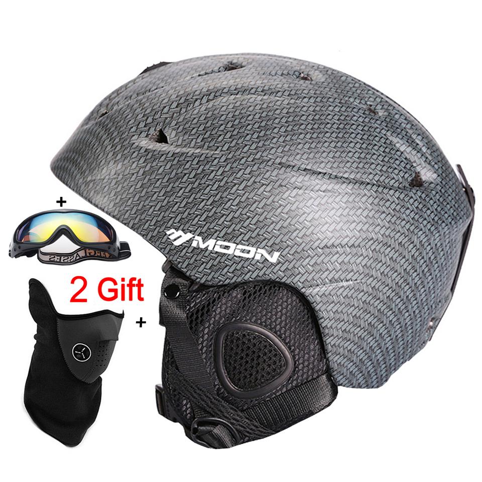 MOON Top Quality Skiing Helmet PC+EPS Ultralight Ski Helmet Extreme Sports Snowboard/Skateboard helmet 268g Size S/M/L (3TK31)<br><br>Aliexpress