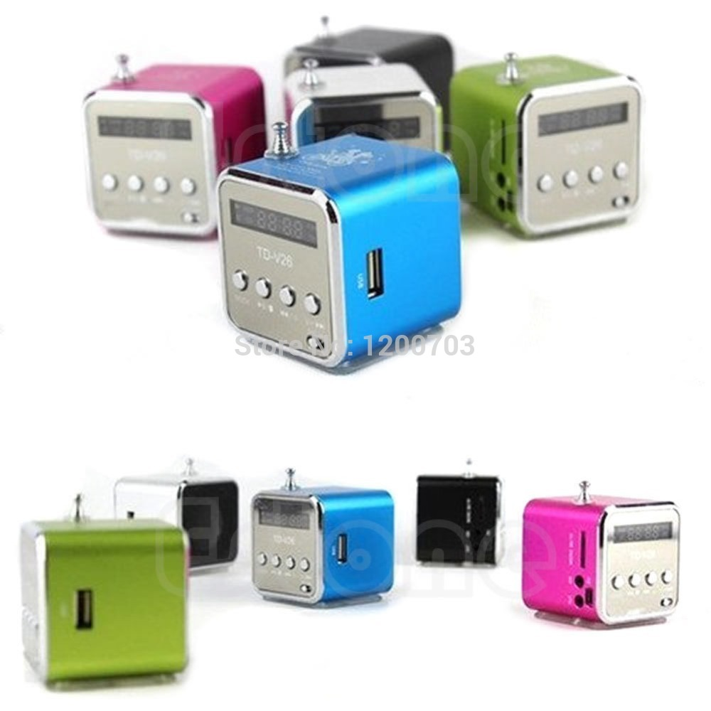 D19 Newest Hot Micro SD TF Mini USB Speaker Music Player Portable FM Radio Stereo PC MP3 free shipping(China (Mainland))