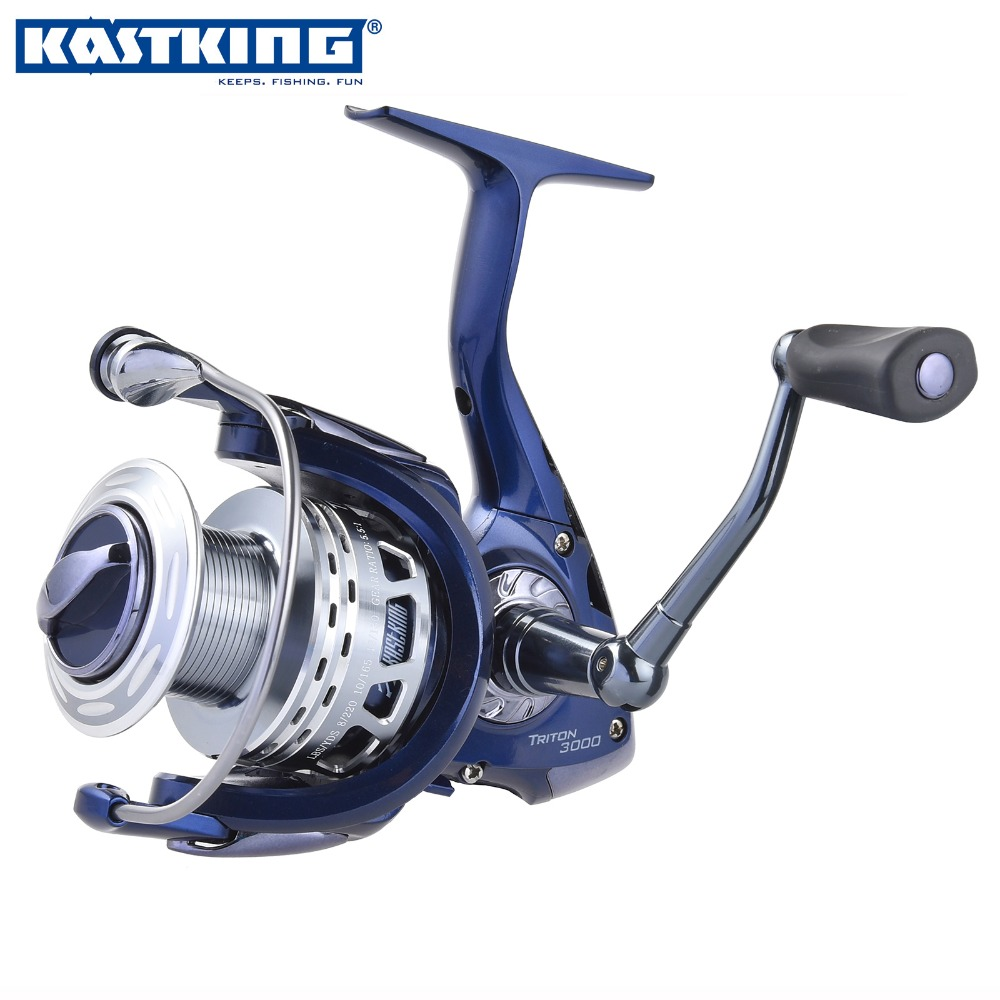 KastKing New Triton Front Drag Spinning Fishing Reel Carbon Fiber Drag CNC Aluminum Spool Shielded Stainless Steel 11BBs(China (Mainland))