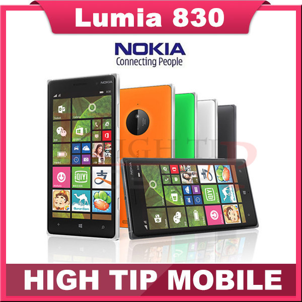 "100% original Nokia Lumia 830 Mobile phone 1G RAM 16G ROM Refurbished Quad core 10MP Camera 5"" screen GPS WIFI brand phone(China (Mainland))"