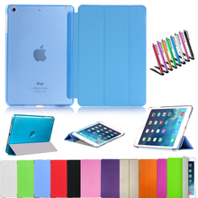 Ultra Slim Magnetic Case Smart Cover PU Leather Case Stand for Apple iPad mini 1 2 3 with Retina Display + free gift stylus pen(China (Mainland))