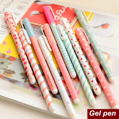10 pcs/set Color Gel pen Kawaii Stationery korean flower Canetas escolar papelaria zakka Office material school supplies 6230(China (Mainland))