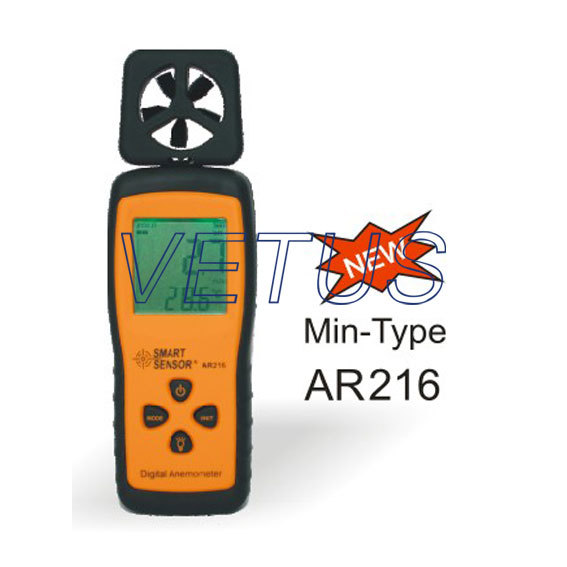 Portable digital anemometer wind speed meter wind tester AR216<br><br>Aliexpress