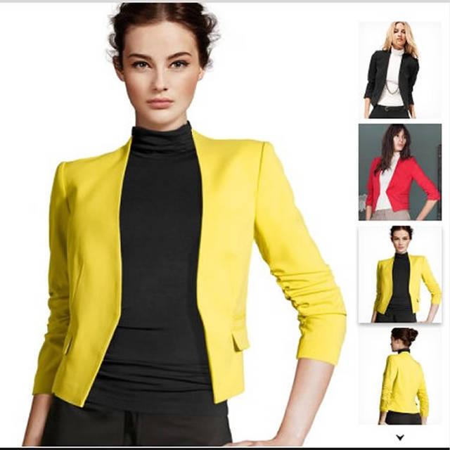 2015 New Blazer Women The Colorful Female Blazer And Blazer Feminino For Women Jacket YS9600-in ...