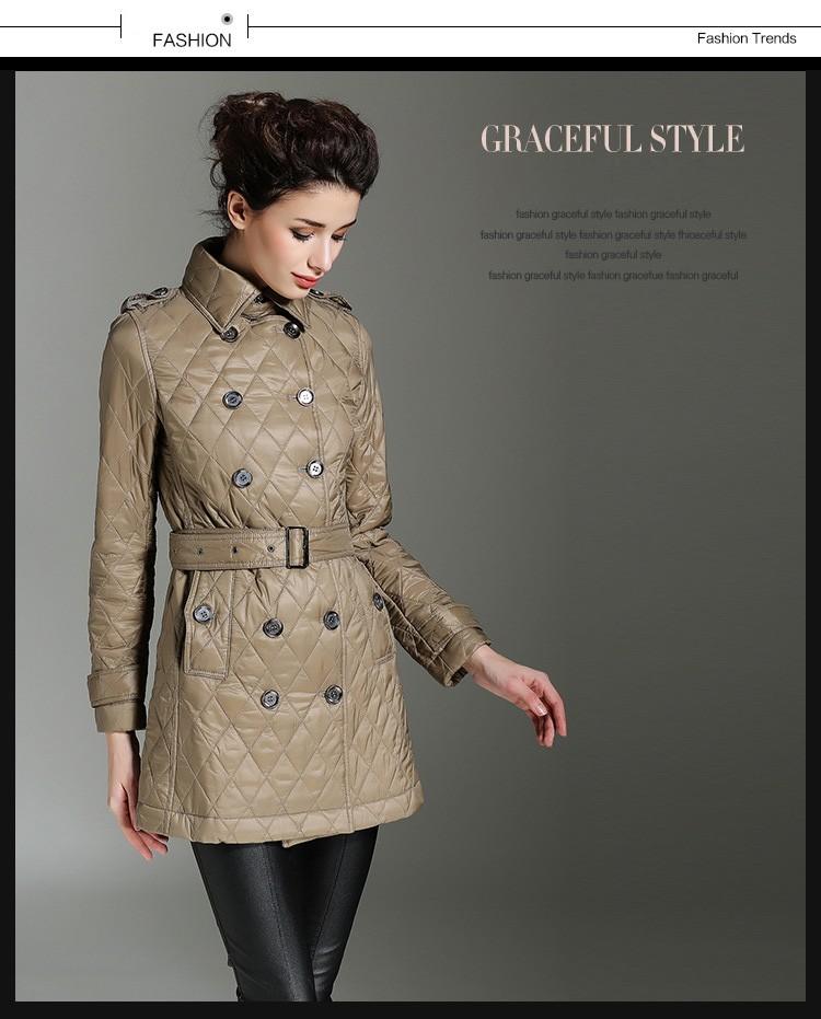 Fall And Winter Clothes Diamond-type Lattice Clothes Women Winter Jackets 2016 Plus Size Winter Coat Casacos De Inverno Feminino