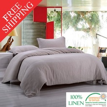 Stone Washed 100% LINEN  BEDDING SET Incluidng 1 duvet cover and 2 pillow case(China (Mainland))