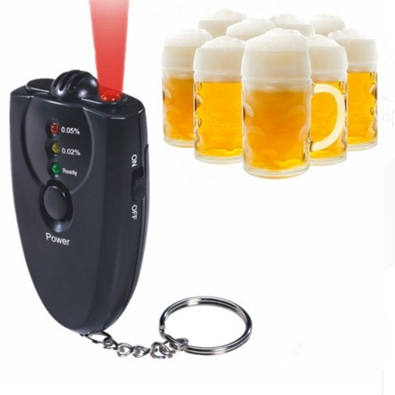 Professional Tester For test Alcohol level mini Portble Accurate Breath Alcohol Tester Breathalyzer Flashlight Free Shipping3678(China (Mainland))