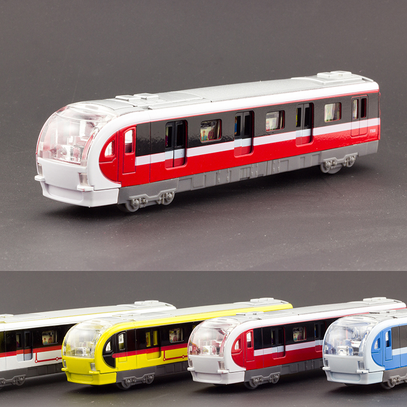 Square Metro Subway Train Pullback 18cm Acousto-optic Warrior Alloy Model Diecast Kid Toy(China (Mainland))