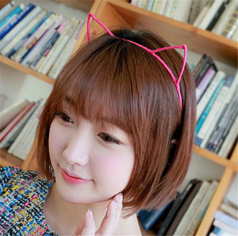 2015 Fashion cute Girls Fashion Women Accessories Sweet Pretty Cat Ears Design Headband Hair Band hair accessories free shipping(China (Mainland))