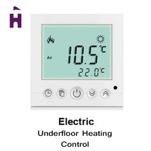 New Arrival ! Weekly Digital White LCD Display Programmable Room Floor Heating Thermostat Powerful Anti Jamming(China (Mainland))