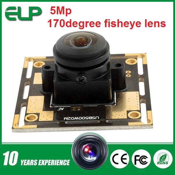 5MP  OV sensor  (170 degree fisheye lens) USB Camera module for atm   ELP-USB500W02M-L170